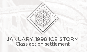 January 1998 Ice Storm - Class action settlement
