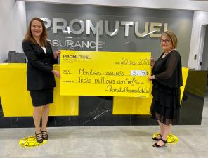 Promutuel Insurance Centre-Sud reports excellent financial results for 2020 and distributes $3.1 million in dividends to its insured members
